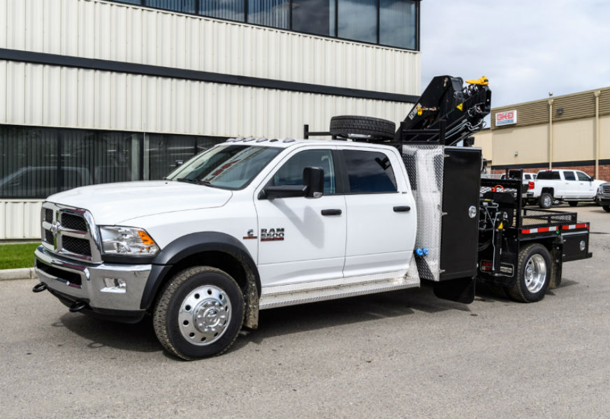 Used Car Lots Edmonton: HIAB 077 BS CLX-3 On Dodge Truck For Sale Calgary Edmonton AB