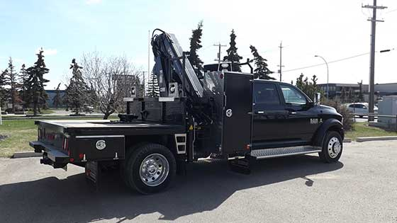 NEW HIAB 077ESCLX-4Crane on Dodge LARAMIE Truck For Sale