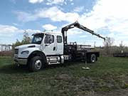 HIAB Crane with Freightliner Truck - SOLD