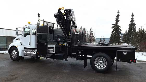 HIAB 211EP-5 HiDuo on Kenworth Truck For Sale